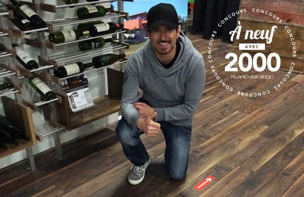 Alex Tagliani, courseur automobile, est porte parole de Plancher 2000 au Salon Expo Habitat